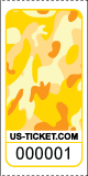 Premium Camouflage Pattern Roll Tickets Yellow