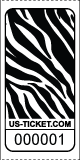 Premium Zebra Pattern Roll Tickets