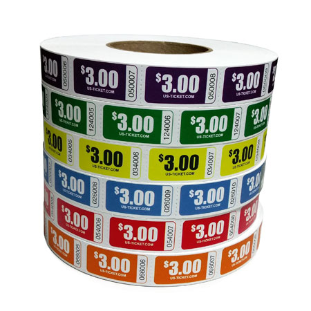 Roll Ticket Denomination $3 Roll Large