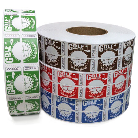 Golf Outing Roll Tickets Roll Large