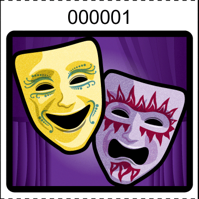 Theater Mask Roll Tickets