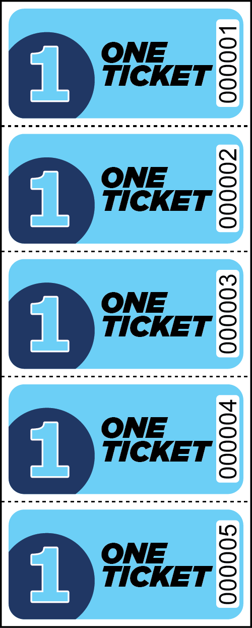 One Ticket Sheet Tickets - Sheets of 5