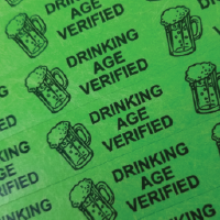 Drinking Age Verified Tyvek Wristband