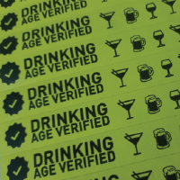Drinking Age Verified Tyvek Wristband variation