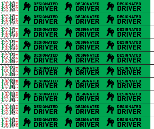 Designated Driver Wristbands