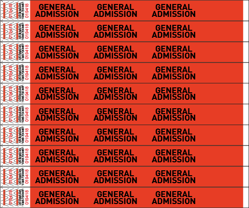 General Admission Wristbands