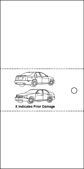 3 Part Valet Ticket With Vehicle Diagram Purple