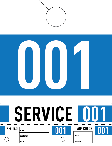 Dealership Service Repair Hang Tags