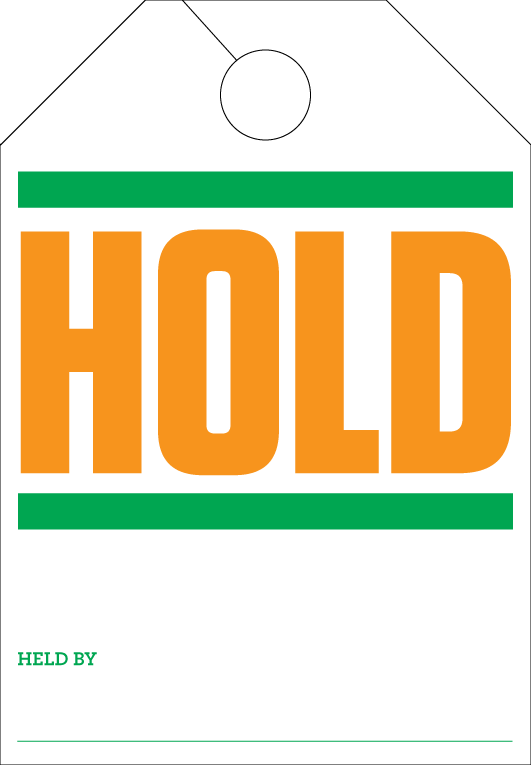 Dealership Sold /Hold Hang Tags