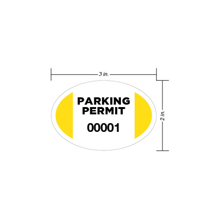 Parking Permit Window Decal Circle