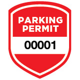 Parking Permit Window Decal Shield