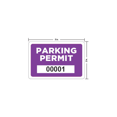 Parking Permit Window Decal Square