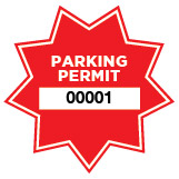 Parking Permit Window Decal Star