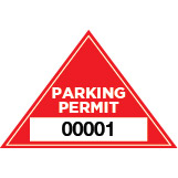 Parking Permit Window Decal Triangle