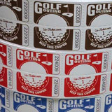 Golf Outing Roll Tickets