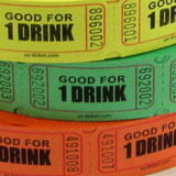 Standard Good for One Drink Roll Ticket