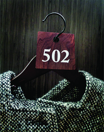 Reusable Plastic Coat Check Tag Walnut