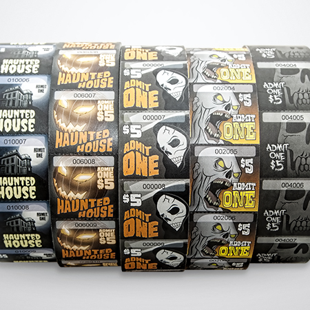 Haunted House Roll Tickets