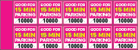 Parking Validation Stamp Books 15 Min