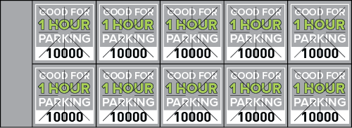 Parking Validation Stamp Books 1 Hour