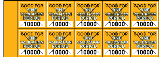 Parking Validation Stamp Books One Validation Period