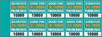 Parking Validation Stamp Books 30 Min