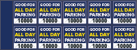 Parking Validation Stamp Books All Day
