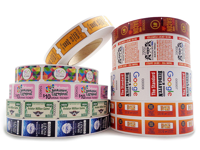 custom roll tickets custom raffle tickets custom event tickets