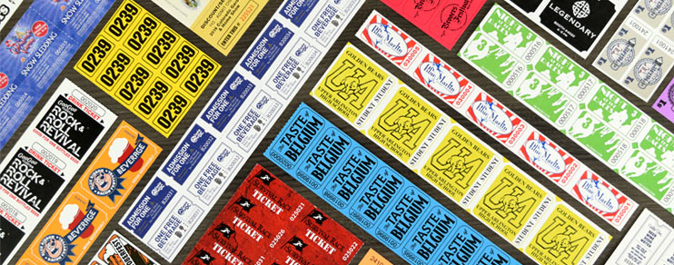 custom sheet tickets and custom strip tickets