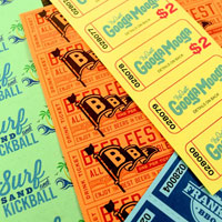 custom perforated sheet tickets