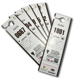 Custom Valet Tickets