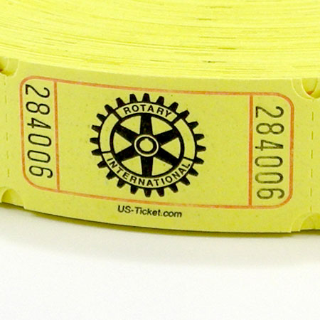 Standard Rotary Roll Tickets