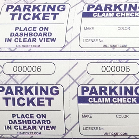 Valet Roll Tickets